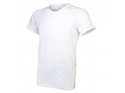 Tričko pánské KR tenké výstřih V Outlast® - bílá (Velikost M)