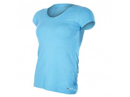 Tričko dámské KR tenké výstřih U Outlast® - azurově modrá (Velikost XL)