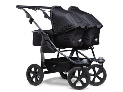 Duo combi pushchair - air chamber wheel black