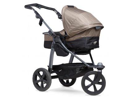 TFK Mono combi pushchair - air chamber wheel brown 2021