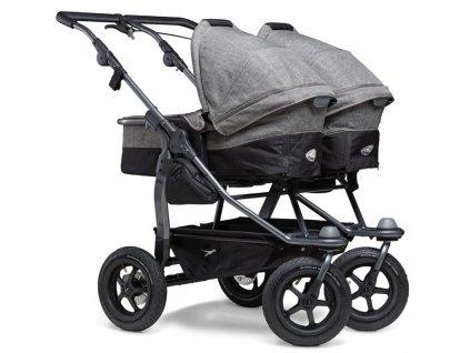 Duo combi pushchair - air wheel prem. grey