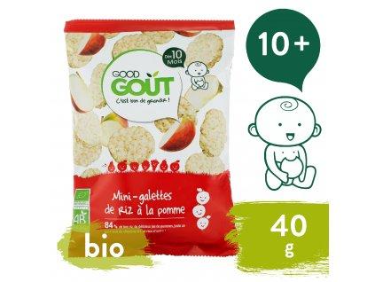 Good Gout BIO Mini rýžové koláčky s jablky (40 g)