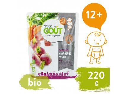 Good Gout BIO Vodnice, mrkev a telecí maso (220 g)