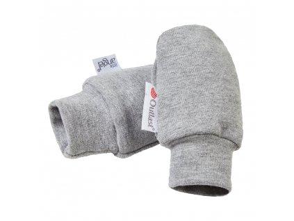 Rukavice smyk kojenecké Outlast® - šedý melír (Velikost 0)