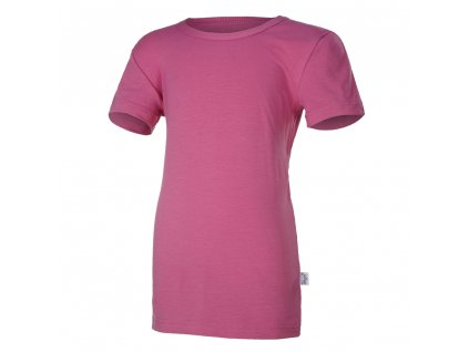 Tričko tenké KR Outlast® - tm. růžová (Velikost 152)