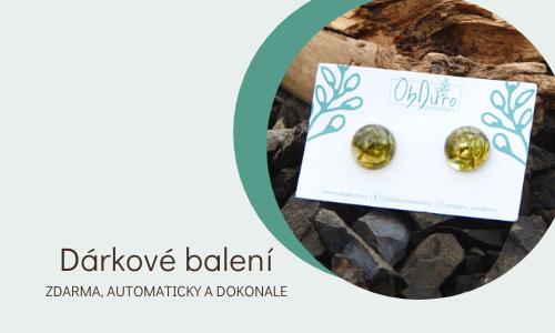 Dárkové balení všech šperků z ObDuro jewellery zdarma