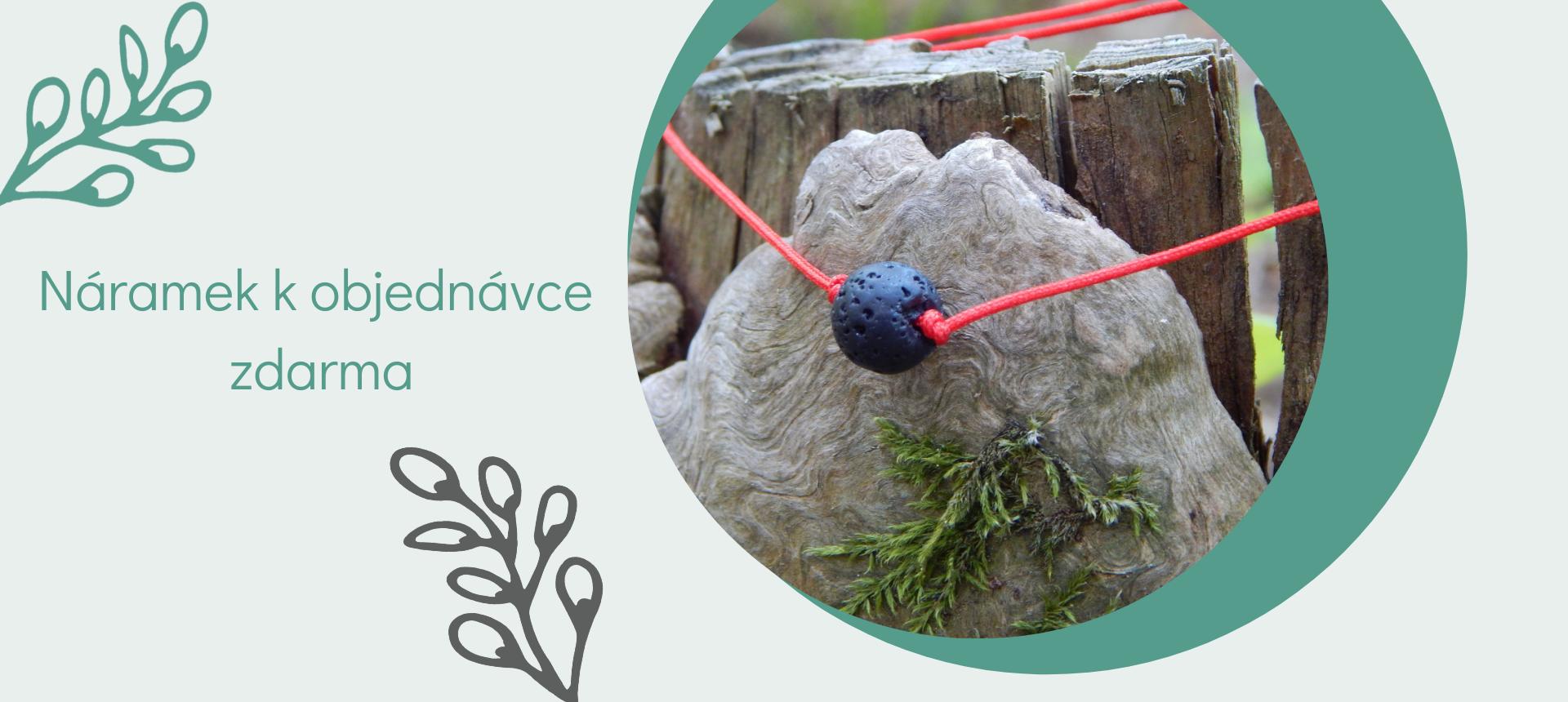 Šňurkový náramek s lávovým kamenem k objednávce zdarma obduro jewellery