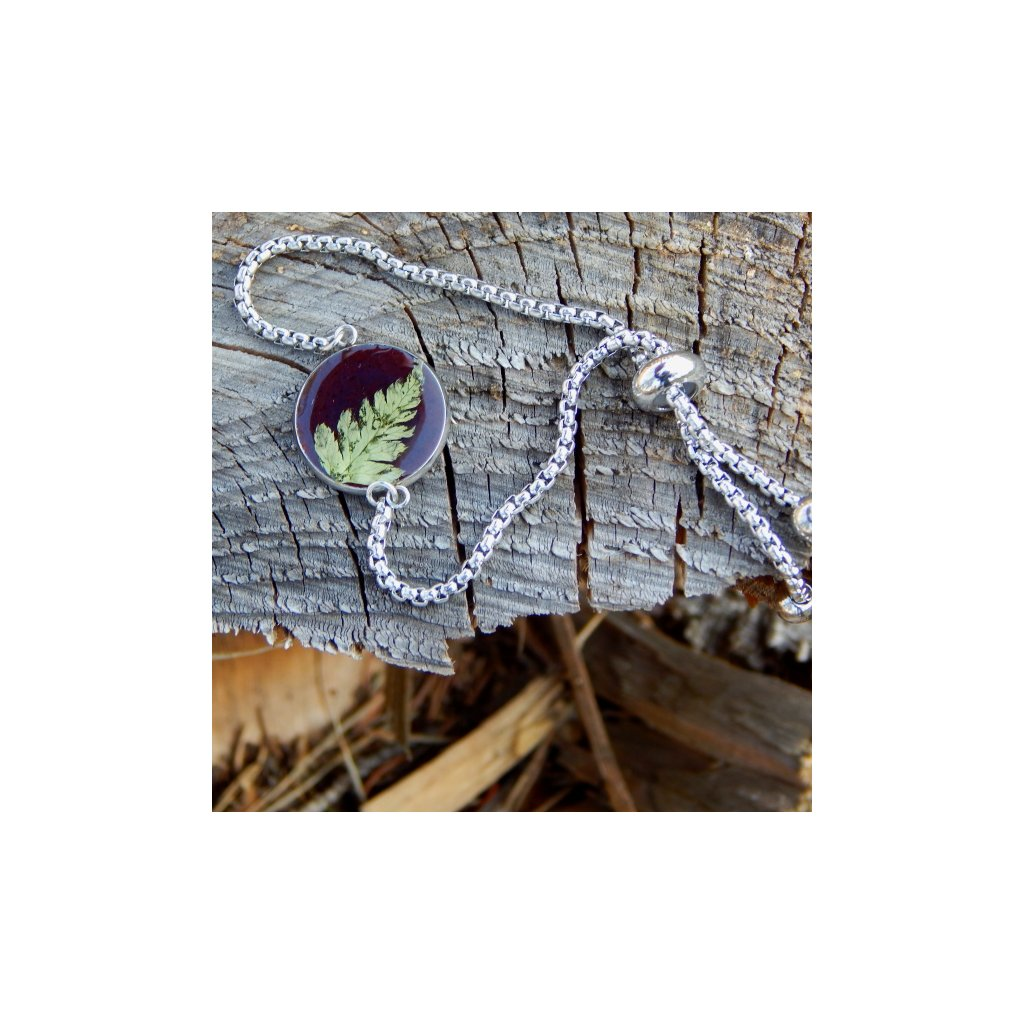 naramek prave kvety zelene kapradi pryskyrice obduro jewellery