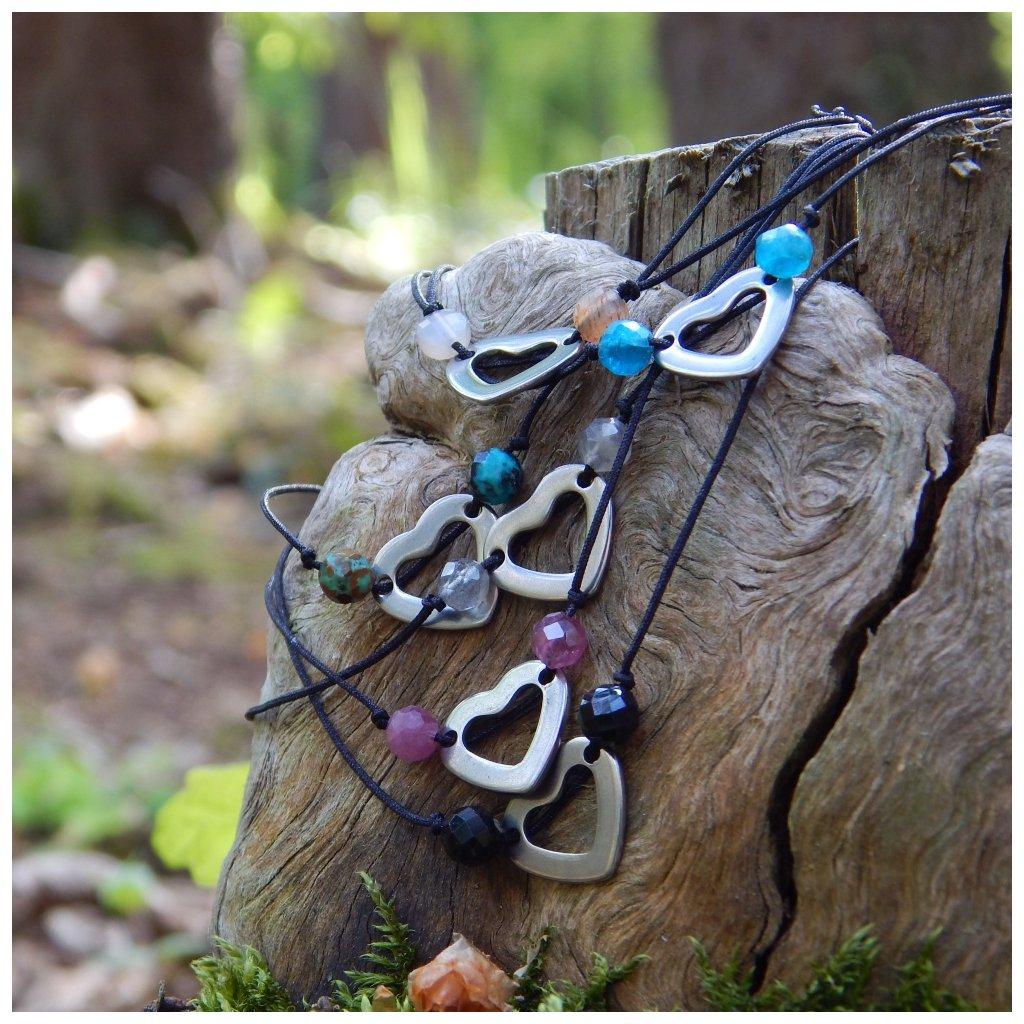 snurkovy naramek stahoavci mineralni kameny obduro jewellery