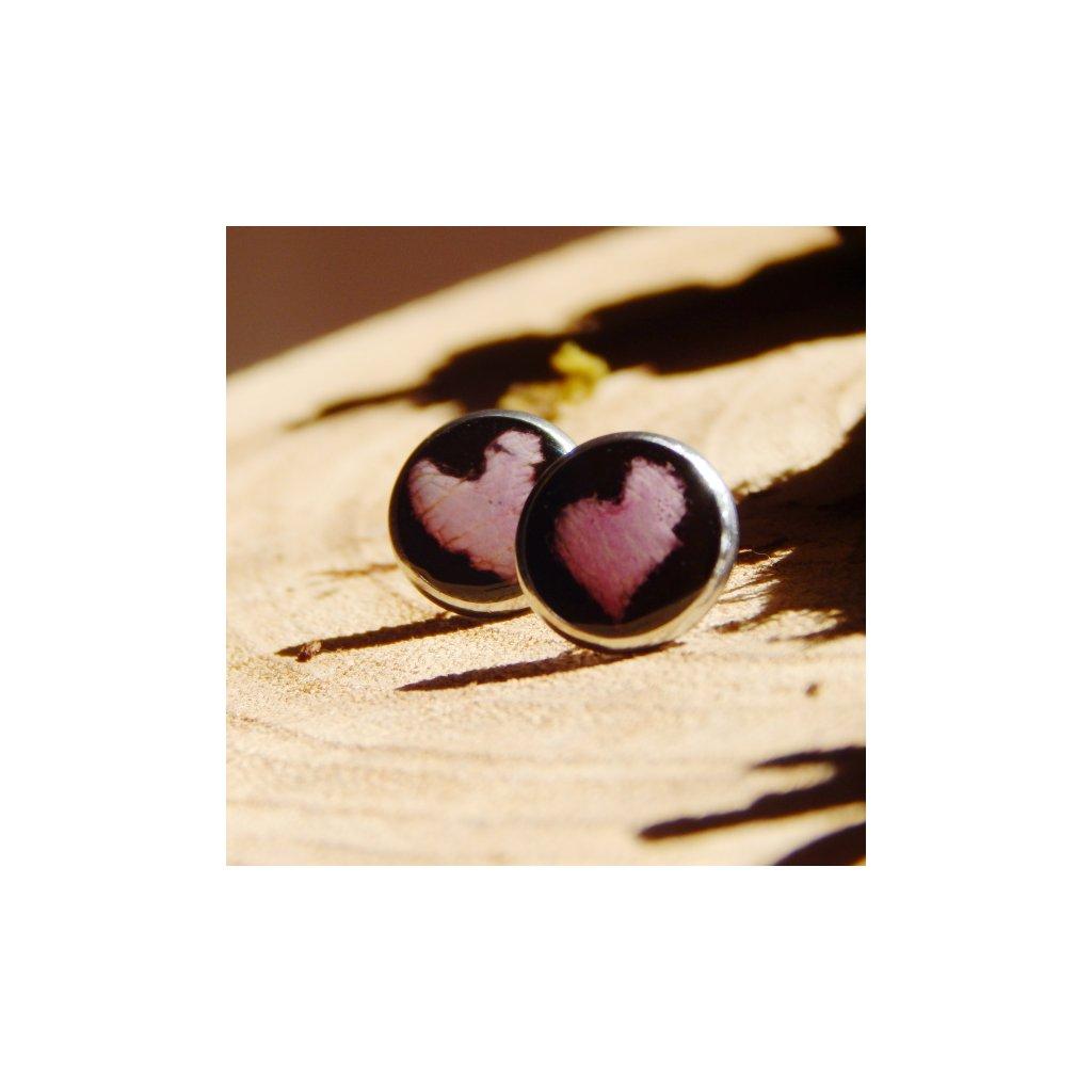 vpichovaci nausnice pecky prava ruzova ruze obduro jewellery
