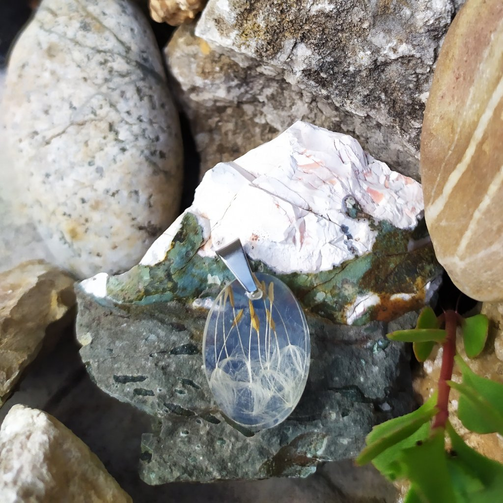 Přívěsek pampeliška ocel OD220002