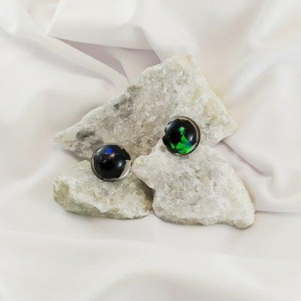 nausnice skoryl turmalin pecky obduro jewellery