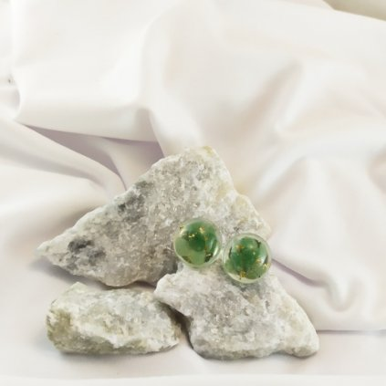 nausnice pecky vpichovaci avanturin zeleny obduro jewellery