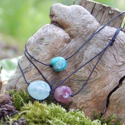 205 stahovaci naramek morganit turmalin amazonit obduro jewellery