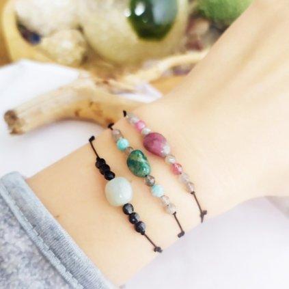 snurkovy naramek amazonit, turmalin a morganit a spinel a labradorit obduro jewellery (87)