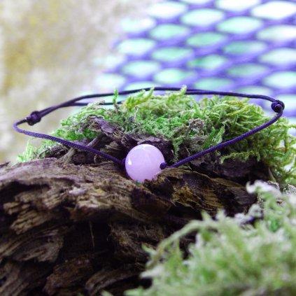 snurkovy naramek polodrahokamy cerna snurka obduro jewellery (45) kopie