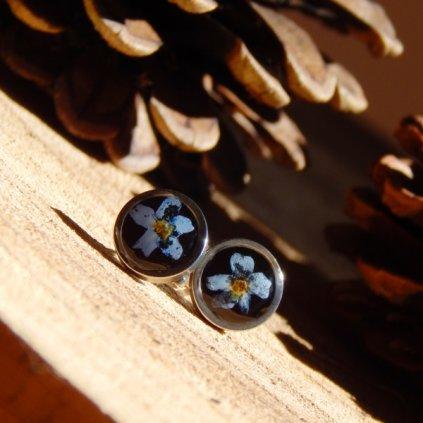vpichovaci nausnice pecky pomnenka prave kvety obduro jewellery