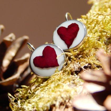 visaci nausnice s pravymi kvety cervena ruze obduro jewellery