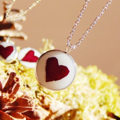 nahrdelnik prava cervena ruze zive kvety obduro jewellery