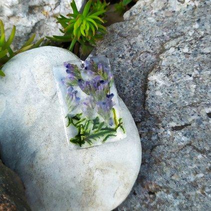 Přívěsek šáter a mech ocel OD220008 přívěsek pravé květy obduro jewellery