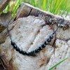 naramek cerna snurka cerny spinel hematitove srdce obduro jewellery