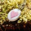 nahrdelnik privesek prava ruzova ruze tvar srdce obduro jewellery