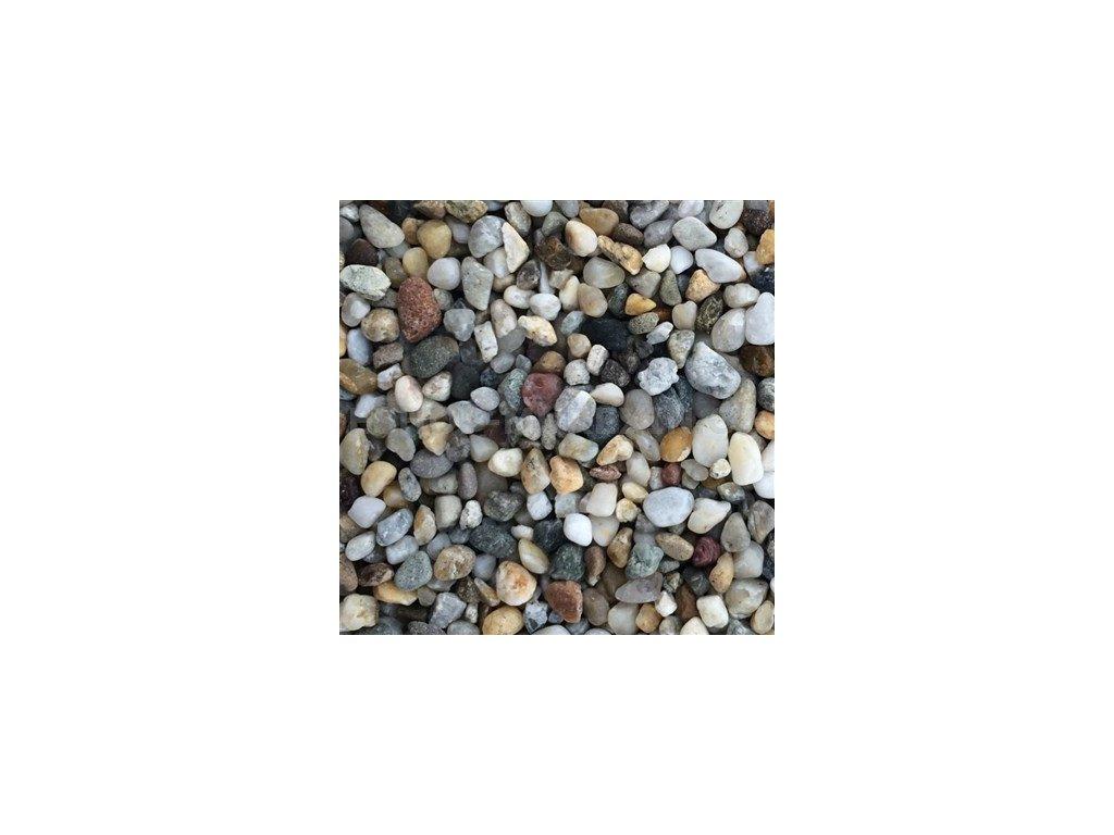 MUR. Kamenný koberec 2-4mm říční bílošedý 25kg