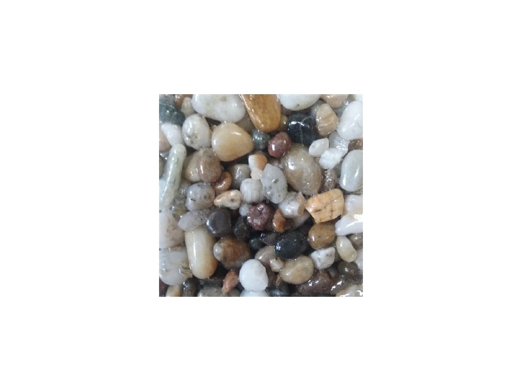 MUR. Kamenný koberec 4-8 mm říční bílošedý  25kg