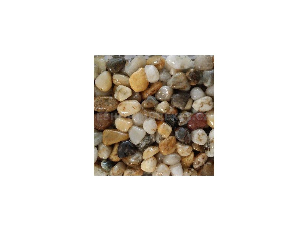 MUR. Kamenný koberec 4-8 mm říční žlutošedý 25kg