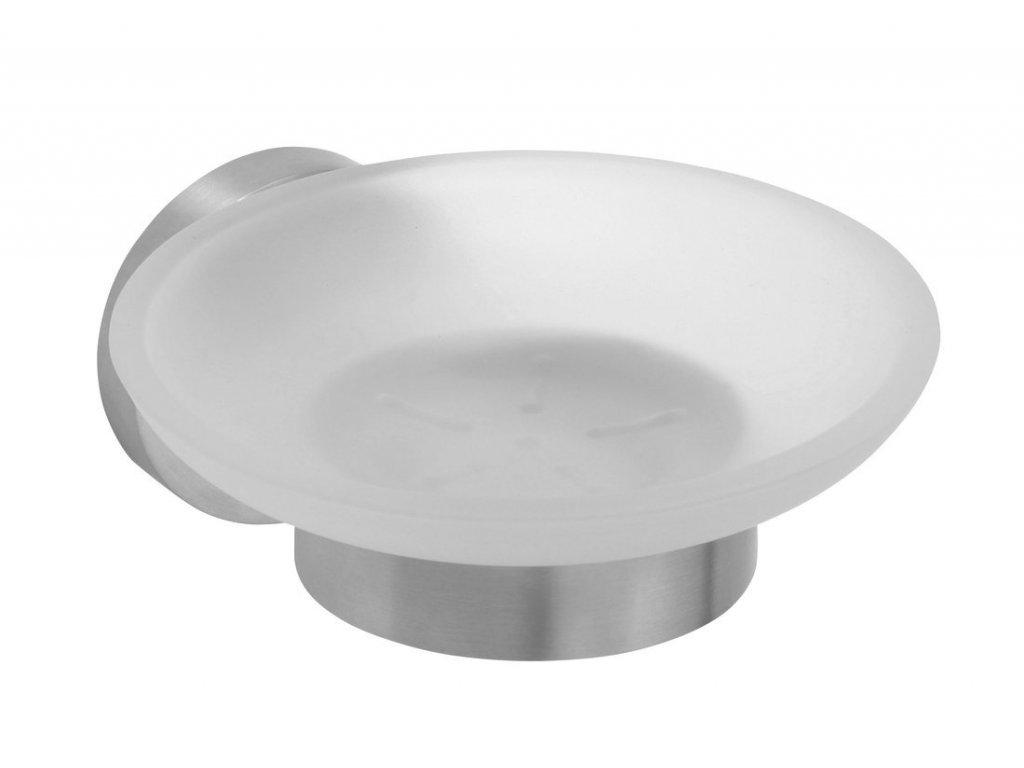 X-STEEL mýdlenka skleněná, broušený nerez