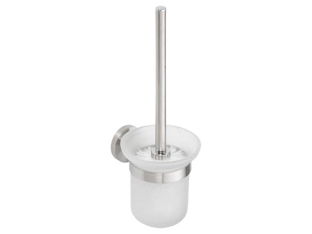 X-STEEL WC štětka nástěnná, broušený nerez