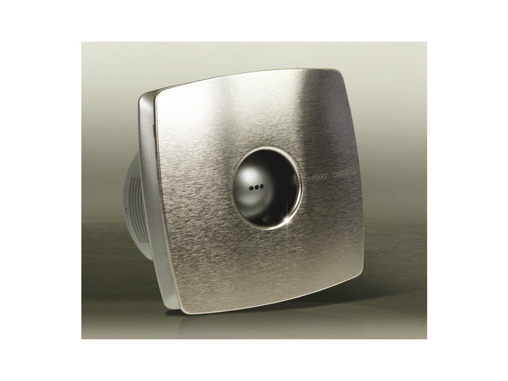 X-MART 12T koupelnový ventilátor axiální s časovačem, 20W, potrubí 120mm, nerez