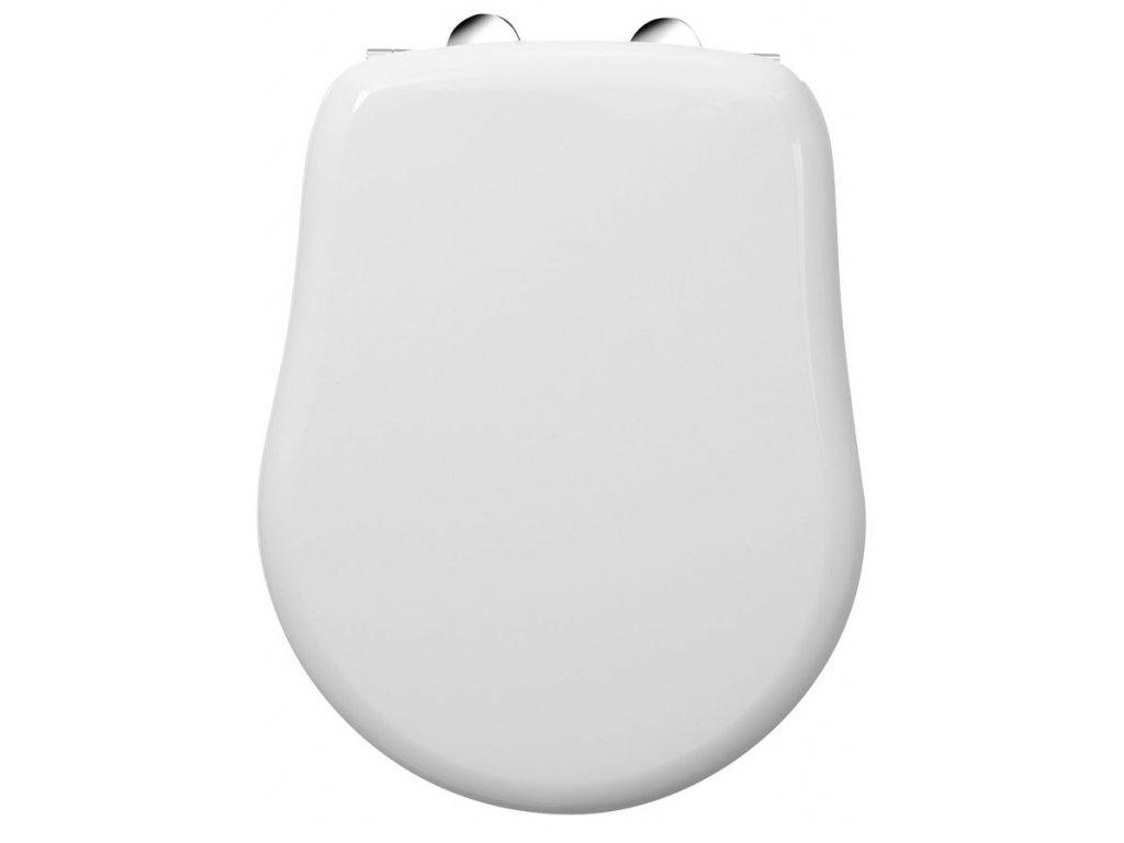 RETRO WC sedátko, bílá/chrom