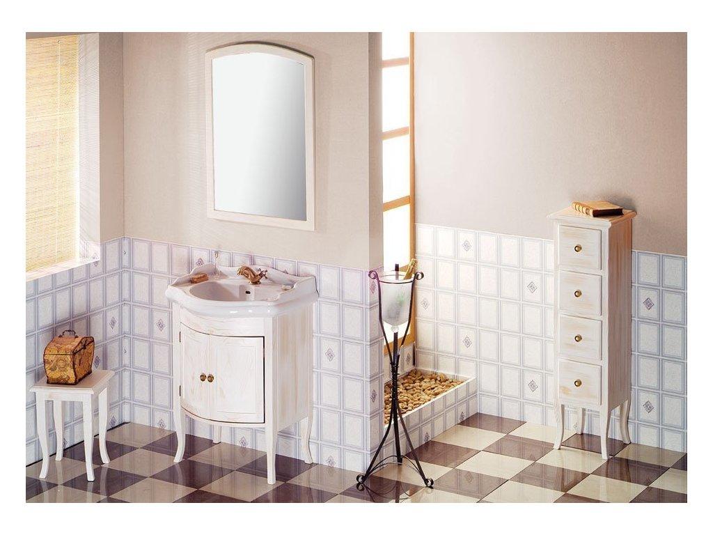 RETRO zrcadlo 650x910mm, starobílá