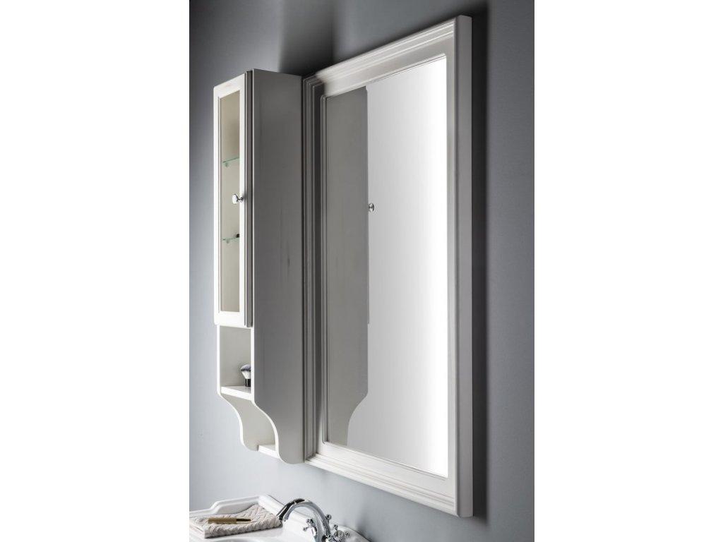 RETRO zrcadlo 70x115cm, starobílá