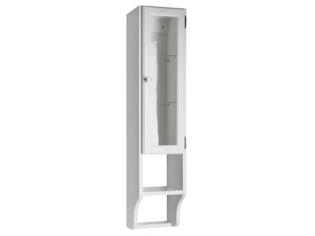 RETRO skříňka k zrcadlu 25x115x20cm, starobílá, pravá