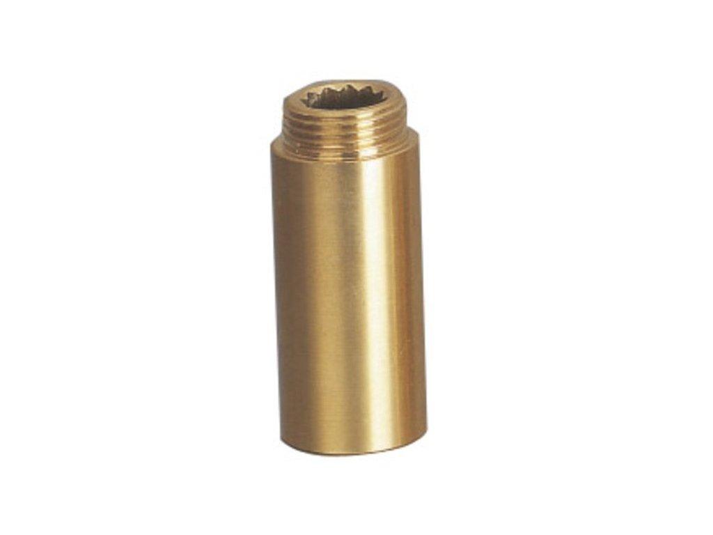 Prodloužení 1/2'x100mm, mosaz