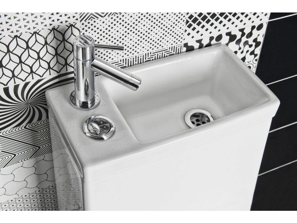 HYGIE WC kombi s umývátkem, včetně PP sedátka, zadní/spodní odpad