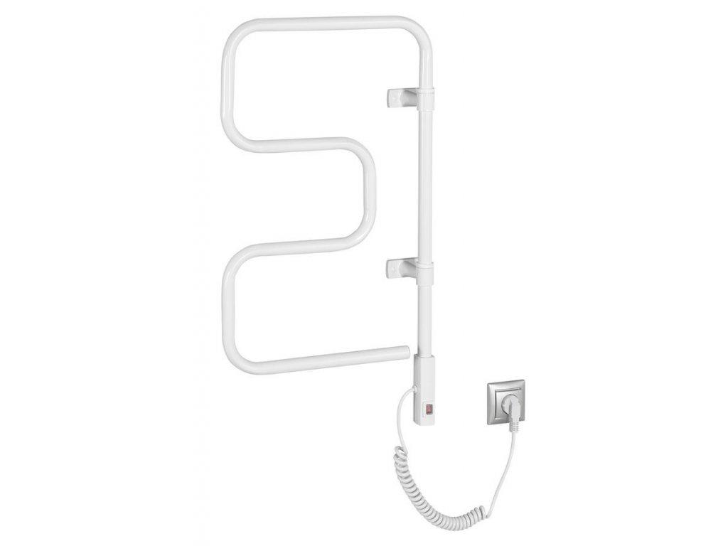 ELVOR elektrický sušák na ručníky, 400x750x95mm, 80W, bílá