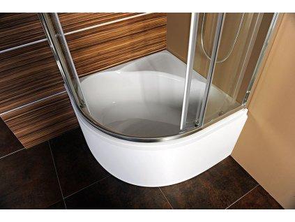 SELMA čtvrtkruhová sprchová zástěna 900x900x1650mm, čiré sklo
