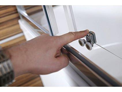 CARMEN sprchová čtvercová zástěna 800x800x1650mm, čiré sklo