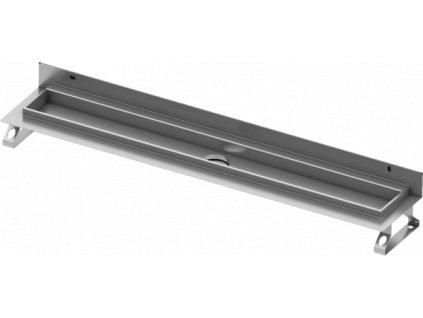 Sprchový žlab Tece Drainline 75cm s přírubou pro instalaci ke zdi nerez