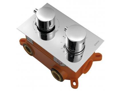 KIMURA podomítková sprchová termostatická baterie, box, 3 výstupy, chrom