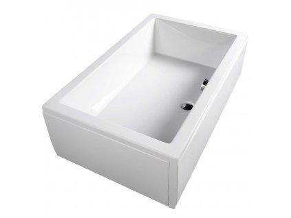 DEEP hluboká sprchová vanička s konstrukcí, obdélník 140x75x26cm, bílá