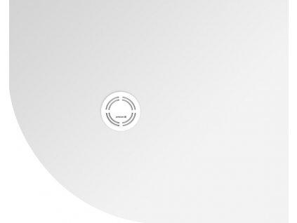 FLEXIA vanička z litého mramoru čtvrtkruh, s možností úpravy rozměru, 100x80x3cm, R550, pravá