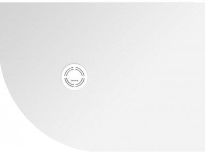 FLEXIA vanička z litého mramoru čtvrtkruh, s možností úpravy rozměru, 110x80x3cm, R550, pravá