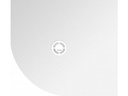 FLEXIA vanička z litého mramoru čtvrtkruh, s možností úpravy rozměru, 100x90x3cm, R550, pravá