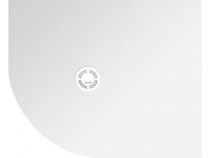 FLEXIA vanička z litého mramoru čtvrtkruh, s možností úpravy rozměru, 110x90x3cm, R550, pravá