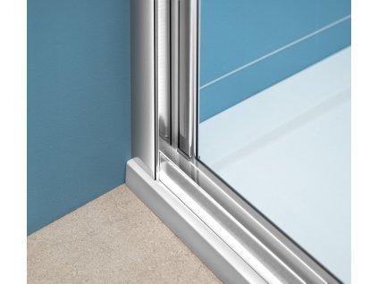 EASY LINE třístěnný sprchový kout 1000x1000mm, skládací dveře, L/P varianta, čiré sklo