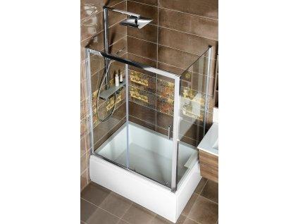 Deep obdélníkový sprchový kout 1400x750mm L/P varianta, čiré sklo